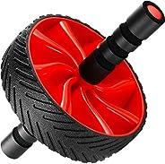 N1Fit 腹肌滚轮 – 坚固的 Ab 锻炼设备用于核心锻炼 – 腹部锻炼设备作为腹部肌肉爽身液 – 用于家庭健身器材的腹肌锻炼设备