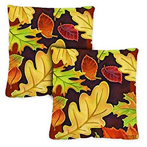 Toland Home Garden Poinsettia Pillow Case (2-pack) 18 x 18 Inch Indoor Pillow Case Only (2-Pack) 781246