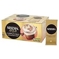 NESCAF? GOLD 不加糖 卡布奇诺咖啡 袋装, 50袋 x14.2g
