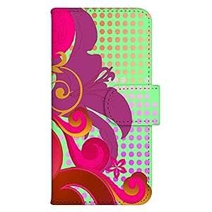 智能手机壳 手册式 对应全部机型 印刷手册 wn-680top 套 手册 图形艺术 UV印刷 壳WN-PR021530-ML AQUOS PHONE IS13SH 图案C