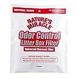 自然奇迹 odor 控制通用深灰色过滤器, 4 Pack