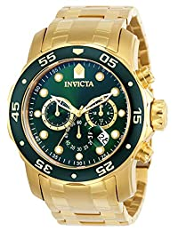 Invicta 0075 Pro Diver 系列 计时码表 18k镀金男士手表