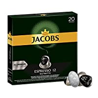Jacobs Kapseln Espresso Ristretto - Intensit?t 12 - 200 Nespresso (R)* kompatible Kaffeekapseln aus Aluminium (10 x 20 Kapseln)