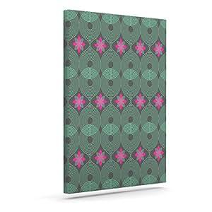 Kess InHouse Deepti Munshaw V 形花纹和圆点彩虹户外帆布壁画,40.64 x 50.80 cm