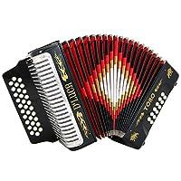 D 'luca d3112t-gcf-bk TORO button 手风琴31键12低音 ON GCF KEY 带保护套和肩带 黑色