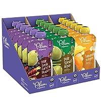 Plum Organics 阶段2,婴儿食品,水果和蔬菜包,4盎司袋装(113克),18件(包装可能会有所不同)