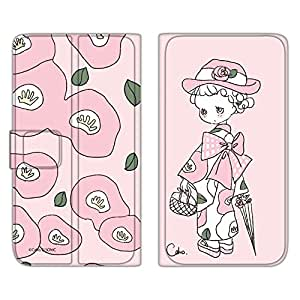 Caho 手机保护壳 翻盖式 薄型印花翻盖 和服和花WN-LC127991_MX  7_ Huawei LUMIERE 503HW 着物と花B