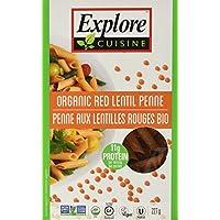 Explore Cuisine - 有机红色小扁豆Penne - 8 盎司