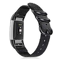 Fintie 指环 Fitbit Charge 2 软编织尼龙运动替换腕带,Fitbit Charge 2 HR 智能健身追踪器