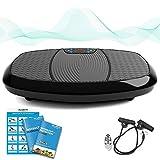 Bluefin Fitness 双电机 3D 电动振动板 | 振动、振动 + 3D 运动 | 大型防滑表面 | 蓝牙扬声器 | 在家中放松*和调音 | 英国设计
