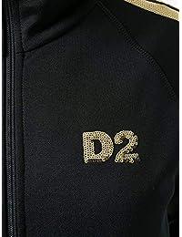 1b83e35cf778 DSQUARED2 女人S75HG0033S25254963 黑色聚酯运动衫 意大利直邮 亚马逊海外卖家