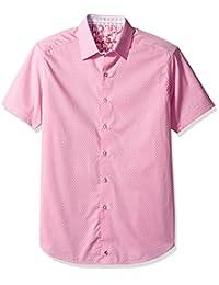 Robert Graham 男式 Clemens S/s 经典合身梭织衬衫