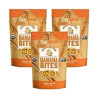 Barnana Organic Chewy Banana Bites, Peanut Butter, 3.5 Ounce, 3 Count