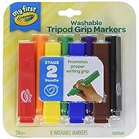 Crayola 绘儿乐 My First, 三角形状 可水洗幼儿标记笔,8件