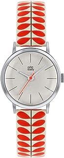 Orla Kiely 欧拉·凯利 中性成人模拟经典石英手表皮革表带 OK2267 白色