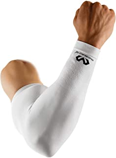 McDavid 迈克达威 Elite 压缩袖套(单袖)。 篮球和其他运动射手臂。 男女皆宜。 黑色或白色