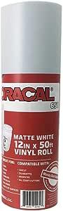 "Oracal 651 Rolls of Vinyl for Cricut、Silhouette、Cameo、Craft Cutter、打印机和贴花 - 光泽表面 - 户外和永久 哑光白色 12.125"" x 50ft Oracal 651"
