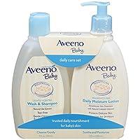 (跨境自营)(包税) Aveeno 艾维诺 日常洗护套装(2合1沐浴露354ml+保湿乳354ml)