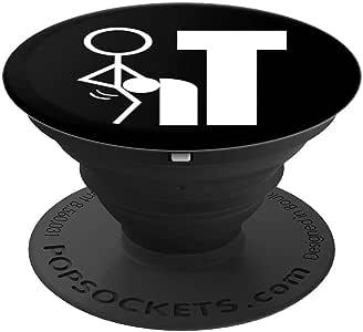FCK It Offensive Rude Sayings T 恤 PopSockets 手机和平板电脑抓握支架260027  黑色