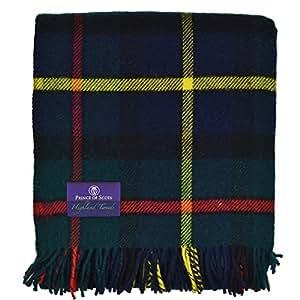 苏格兰王子高地格子花呢 * 纯羊毛蓬松围巾 Hunting Mcleod J4050028-016