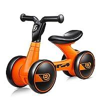 FERSOAR F 烽索 LUDDY系列 儿童平衡车1-3岁三轮滑行学步车溜溜车 LD-1006-B 橙色(亚马逊自营商品, 由供应商配送)