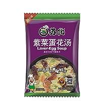 subo 苏伯汤紫菜蛋花汤8g4包方便速食 蔬菜汤速溶即食食品汤料包