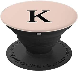 K 首字母粉色淡红色交织字母冰球袜手机和平板电脑握架260027  黑色