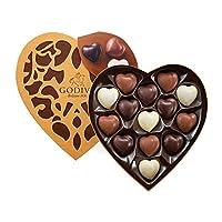 GODIVA 歌帝梵 金装精选心形巧克力礼盒14颗装 165g(比利时进口)(亚马逊自营商品, 由供应商配送)