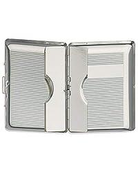 银色 名片盒 信用卡盒 9.5 × 6 厘米 镀银 高级加工