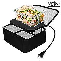 TrianglePatt 个人便携式烤箱,适用于食品的电动慢炖锅,适用于膳食加热的迷你烤箱,带午餐袋(110 伏)