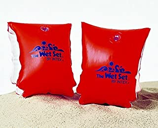 Intex 豪华臂带游泳训练器 - *橙色 58642EP 9 英寸 x 6 英寸年龄 3-6 个水翼
