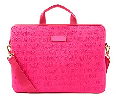 Marc by Marc Jacobs Adults Suck Neoprene 13-Inch Commuter Bag (M0003812) Marc by Marc Jacobs Adults Suck Neoprene 13-Inch Commuter Bag (M0003812) Knockout Pink