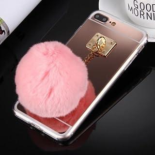 alsatek Tpu 手机壳 适用于 Iphone 4 带集成钥匙环 Pompon 粉色