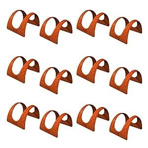 Jokari Taco 支架 - 适用于Tacos,柔软硬壳,可用洗碗机清洗,非常适合儿童、烧烤或聚会 - 填充及服务架 红色 12 2297515