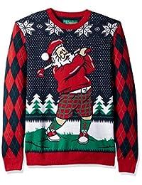 Ugly Christmas Sweater Company 男士圣诞毛衣 - 高尔夫圣诞老人