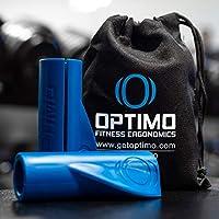 Optimo Fitness 人体工程学杠铃杆夹 - *多功能设计 - *适合杠铃和哑铃或任何带手柄的锻炼器材(一对 - 1.6 英寸宽)