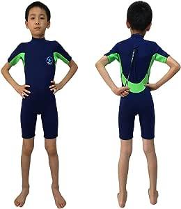 REALON 潜水服儿童短裤 3mm 男孩冲浪套装 2mm 儿童泳装女孩浮潜潜潜潜水服幼儿和青少年 小号 888