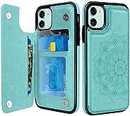BENTOBEN iPhone 11 手机壳,iPhone 11 钱包手机壳带卡槽,PU 皮革卡槽耐用防震手机保护套适用于 Apple iPhone 11 6.1 英寸 2019 - *