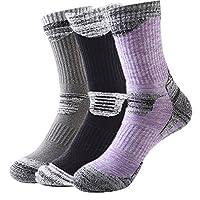 Tri-polar户外滑雪袜登山袜秋冬厚款运动袜跑步吸湿排汗高筒毛巾袜3色3双