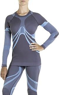 XAED 滑雪内衣,女士功能性上衣,长袖无缝衫