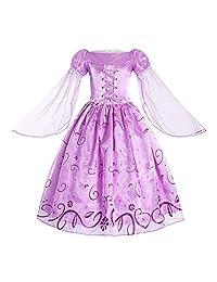 relibeauty 小女孩网眼袖公主长发公主装扮服装