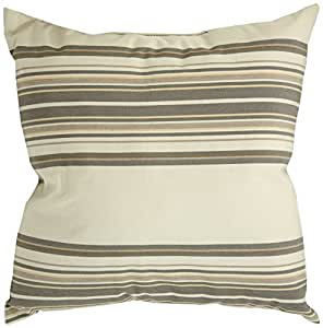 Mansion Multi-Striped Outdoor Pillow Toupe Multi 6-Inch