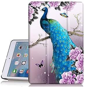 iPad Mini 保护套,iPad Mini 2 保护套,iPad Mini 3 带自动唤醒/*功能,PIXIU 独特保护皮革可折叠支架对开保护套适用于 ipad Mini retina/mini2/mini3