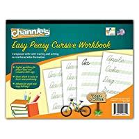 Channie's Easy Peasy Cursive Tracing & Writing Practice 工作簿,80 页前后,40 页,*级 - 3rd,尺寸 21.59 x 27.94 厘米