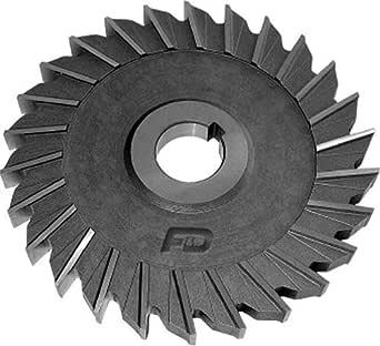 F&D Tool Company 11569-AX5510 直齿 M-42 钴边铣刀 直齿 5英寸切割器直径 5/16英寸面宽 1英寸孔尺寸 28齿数