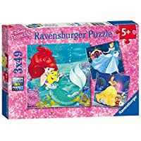 Ravensburger 睿思 拼图 迪斯尼系列 公主的历险 (49片*3) RAVC093502