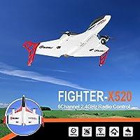 遥控飞机,Fineser XK X520 2.4G 6CH 遥控飞机滑翔机遥控飞机户外飞机