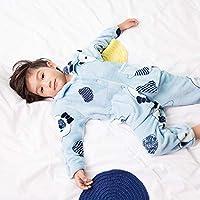 夷榀 秋冬季儿童法兰绒睡衣男女童宝宝加厚小孩家居服男女孩珊瑚绒套装