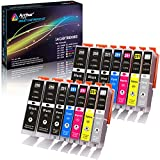 14件装 ARTHUR imaging 兼容墨盒替换件适用于250X L 码251X L 码4个大号黑色2小号黑色2青色2黄色2洋红色2灰色14-pack