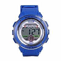 TAIXUN 儿童酷炫户外运动 LED 数字防水电子腕带手表树脂表带